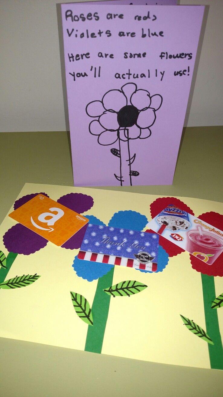 Teacher Appreciation Week Flower Day Male Teacher Flowers With Gift Cards Poem Card Teacher Gift Card Male Teacher Gifts Male Teacher