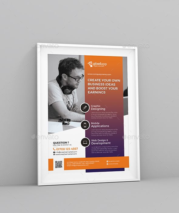 Corporate Flyer Business flyers, Flyer template and Template - corporate flyer template