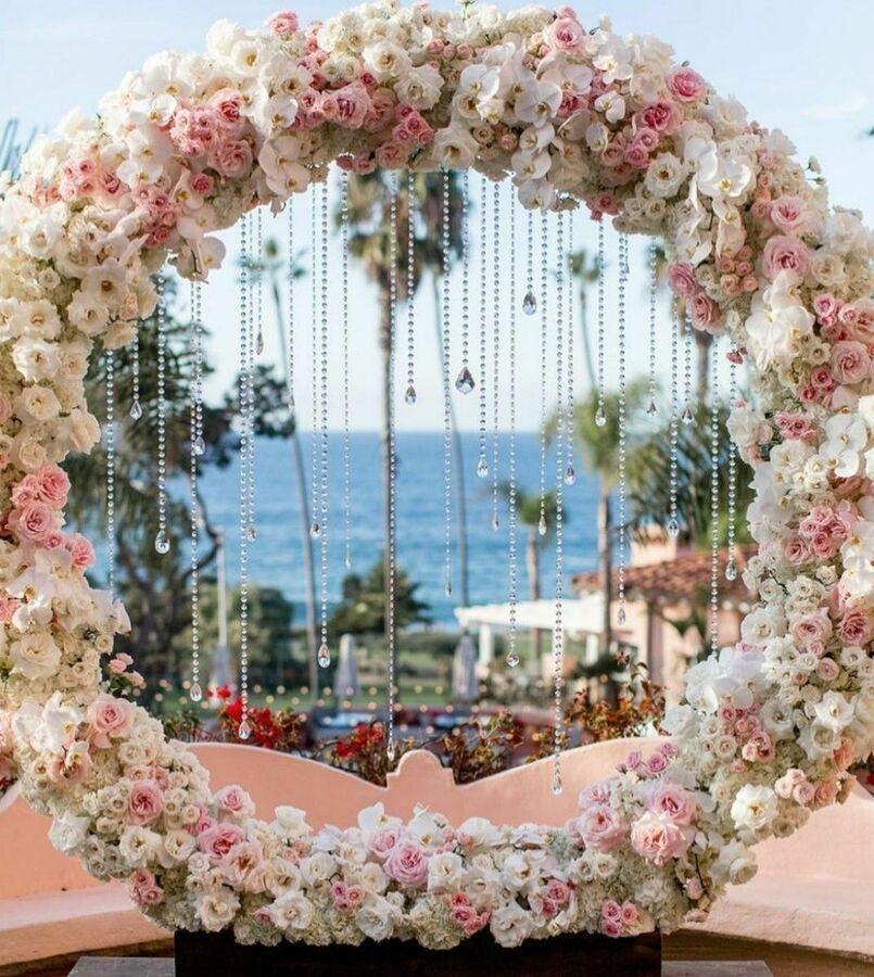 1 2m 1 5m 2m Circle Arch Framework Metal Round Wedding Party