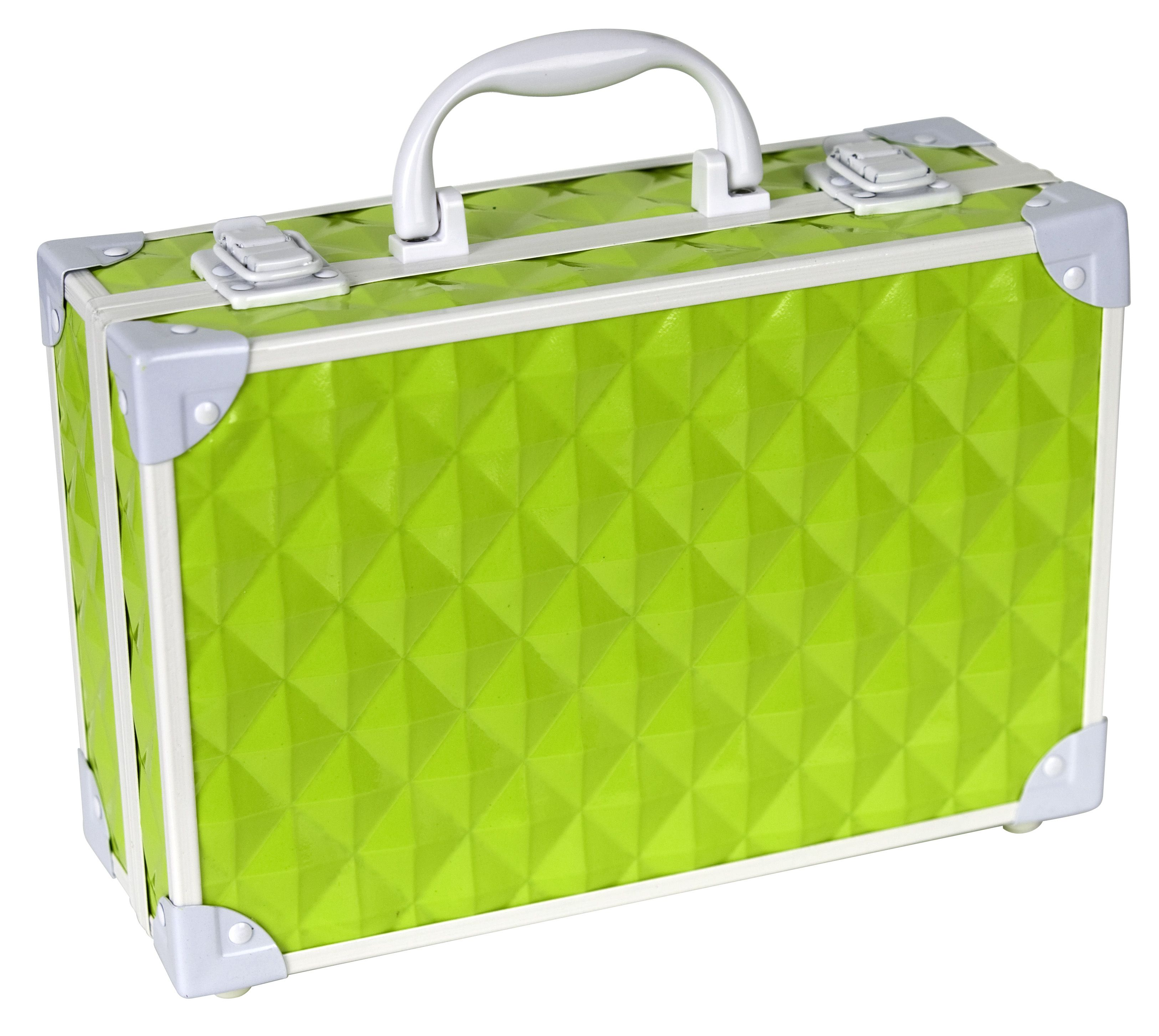 Our Power Generator case in green! Filled with cosmetics