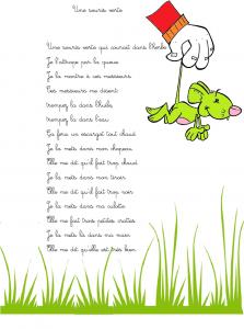 Comptine une souris verte paroles illustr es de la comptine pour enfants une souris verte - Coloriage souris verte ...