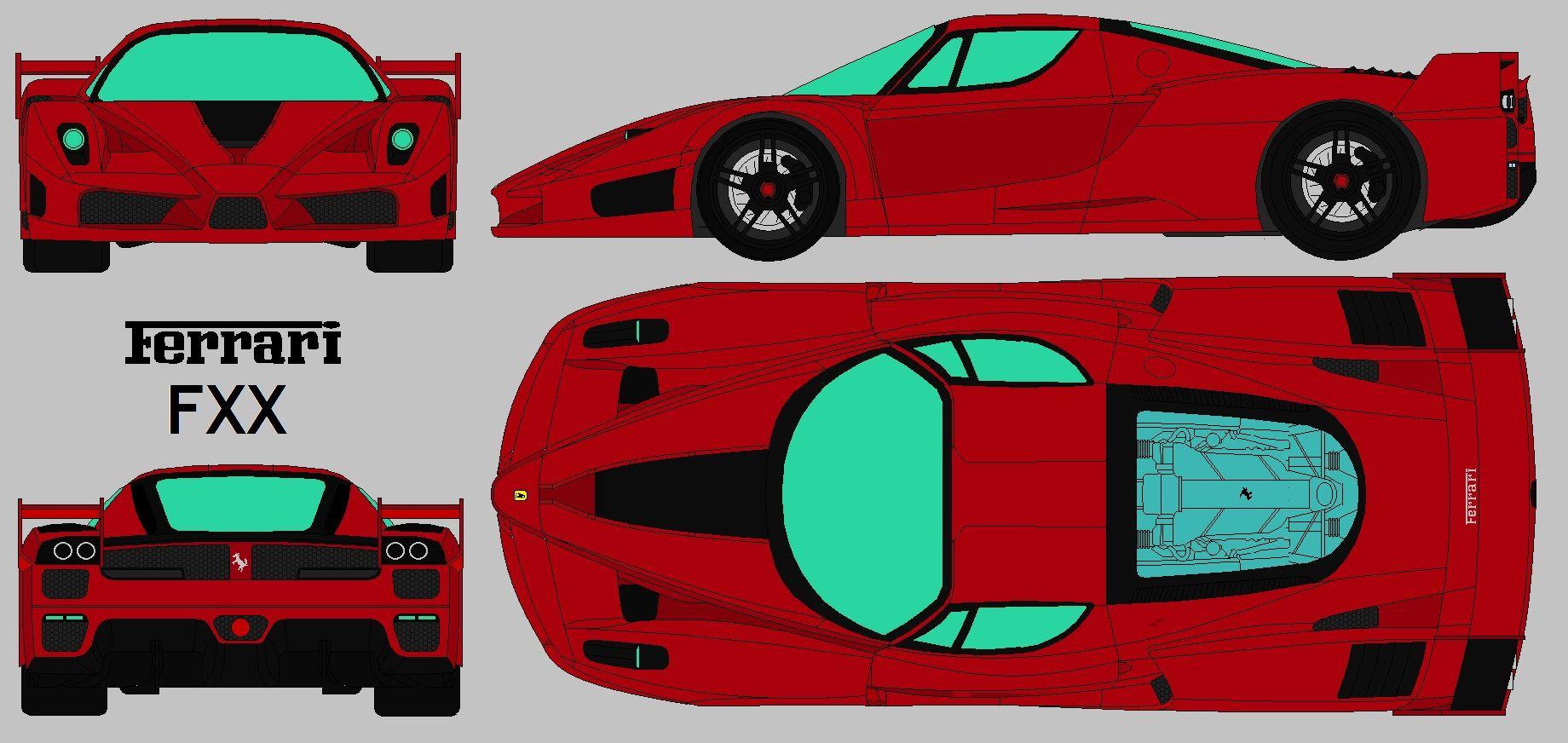 Ferrari Enzo Fxx Blueprint