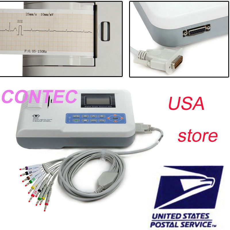Ce Fda Contec Ecg100g Single Channel 12 Lead Portable Ecg Machine Health Care Health Healthandfitness
