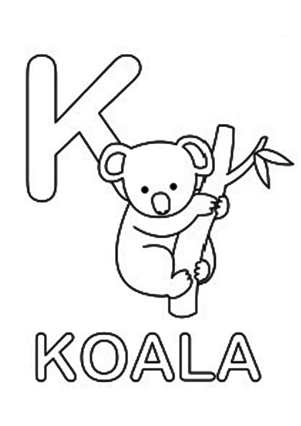 Koala Bear Coloring Page, FREE Coloring Page Template