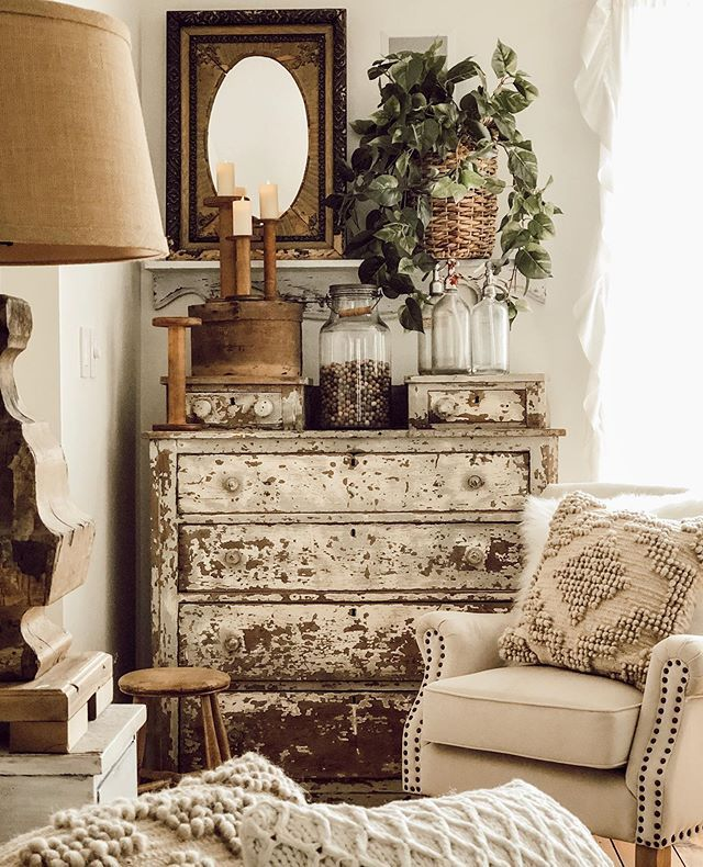 Decorating with Vintage Items in the Master Bedroom - Deb and Danelle