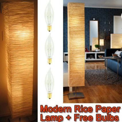 Amazon.com: Rice Paper Shade Asian Floor Mood Lamp: Home Improvement