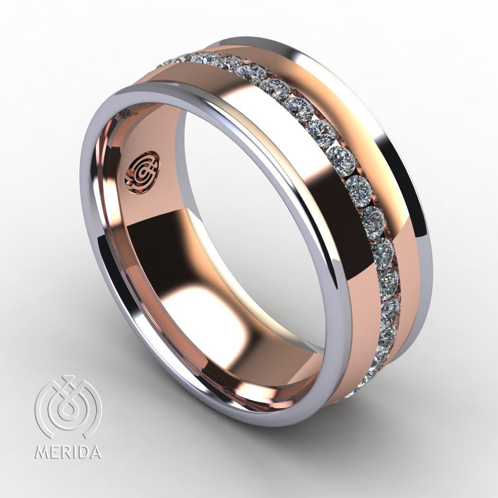 Men S Wedding Band With Monograms Unique Mens Wedding Ring 8mm