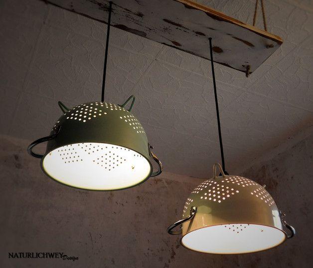 Kreative Deckenlampe Aus Altem Vintage Sieb Creative Lamp Made