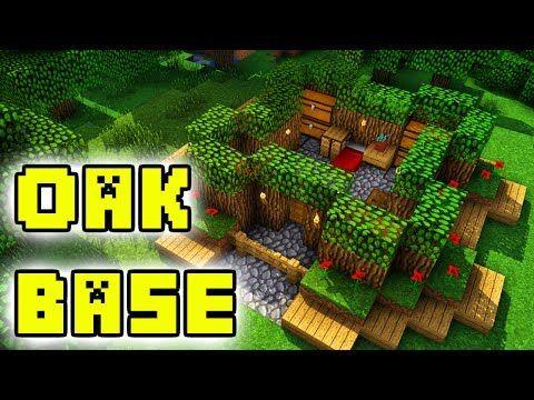 Minecraft Tutorial Oak Forest Survival Base House Easy