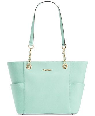 e04055bb5f2 Calvin Klein Saffiano Leather Tote - Handbags  amp  Accessories - Macy s  Bolsas Calvin Klein