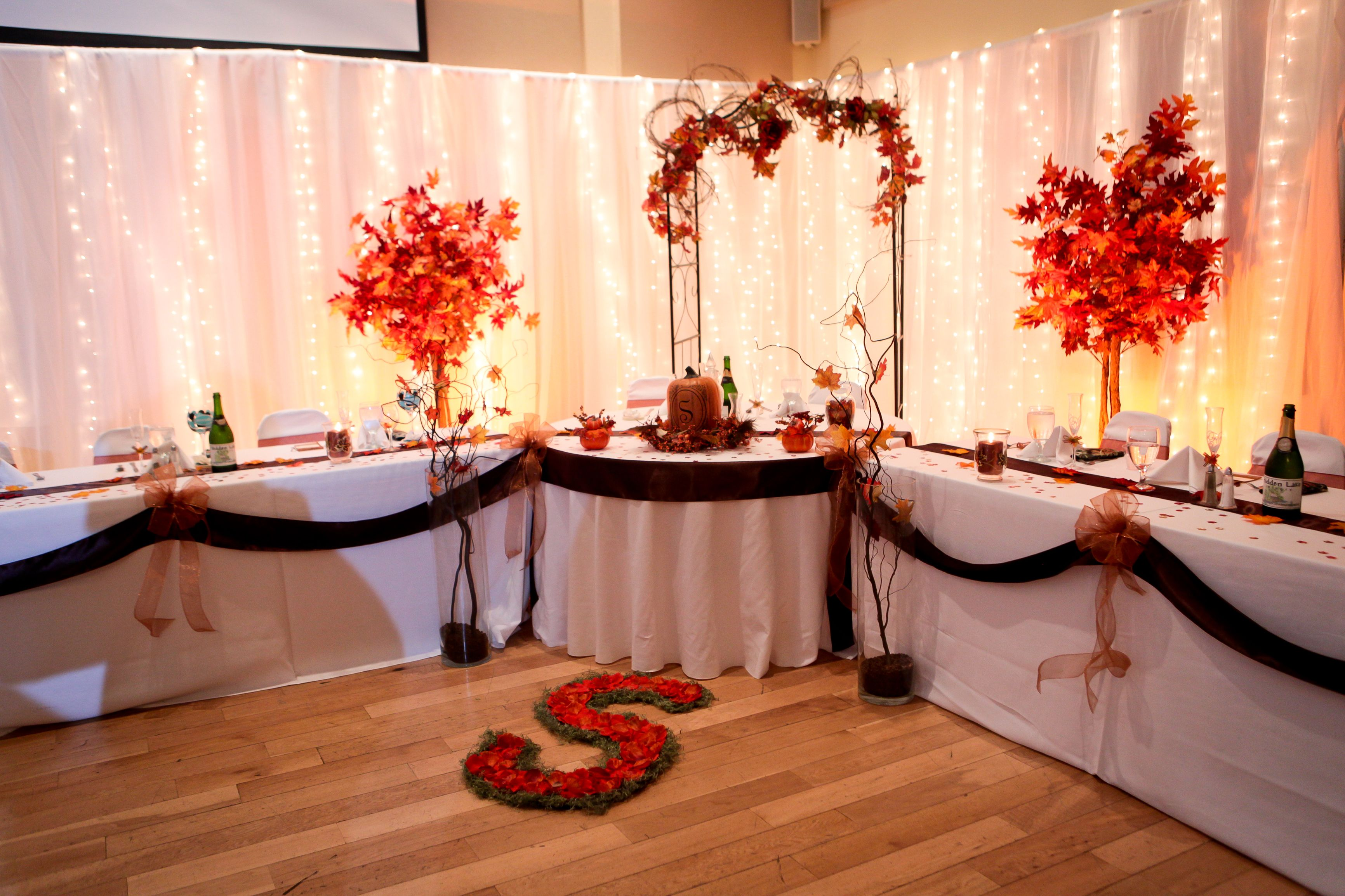 Wedding Themes Fall, Head Table