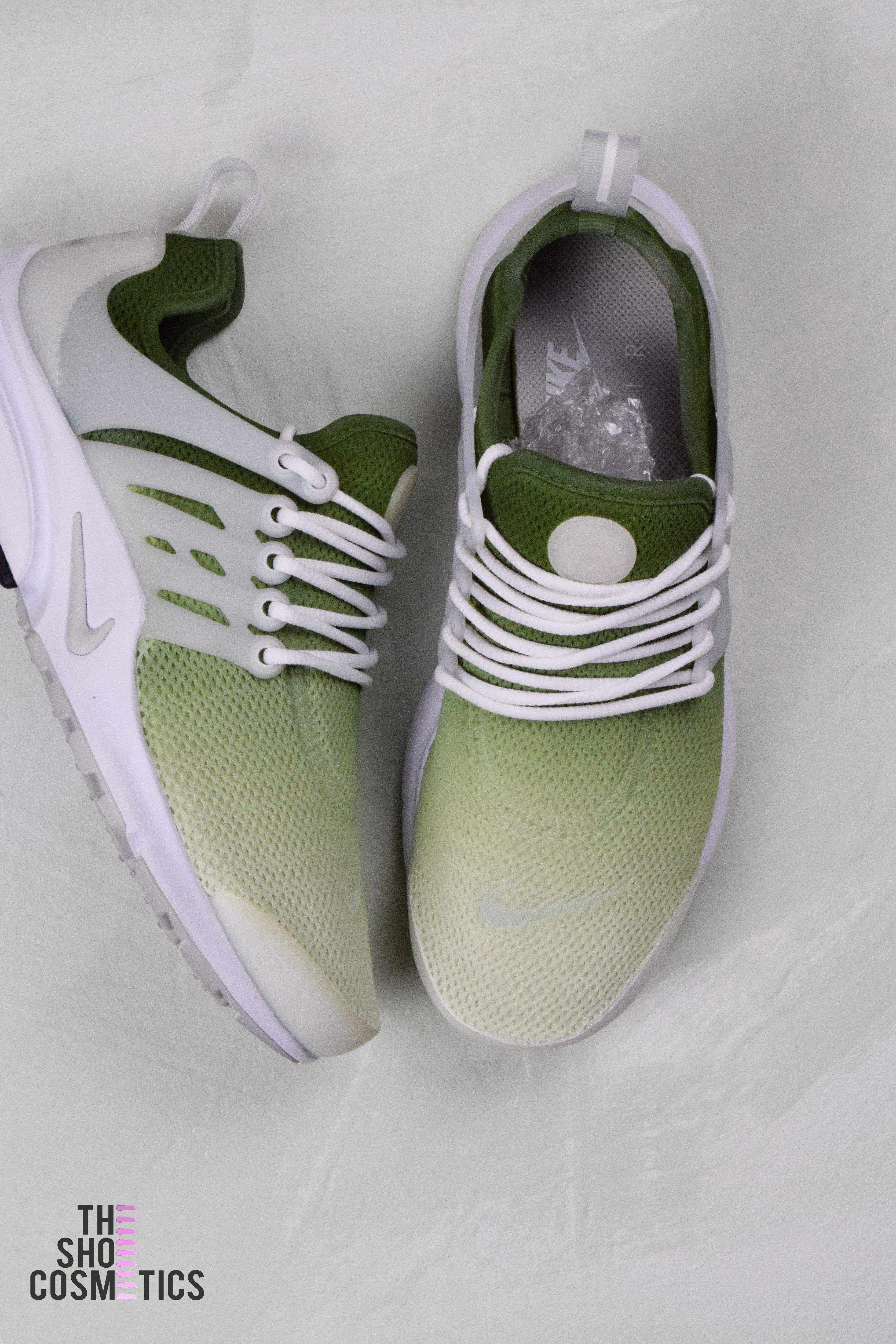 af54c5f3a772 Explore our olive green ombre Air presto custom nike sneakers. Looking for  green Nike shoes or womens Nike sneakers  Then our hand painted ombre  sneaker ...