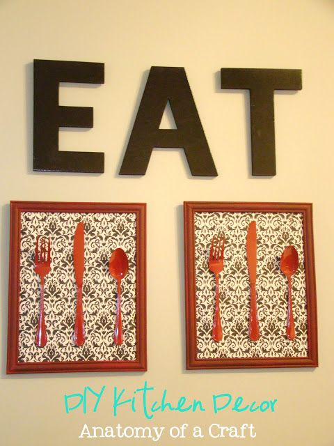 DIY wall decoration I dig this for the kitchen, maybe minus the ...