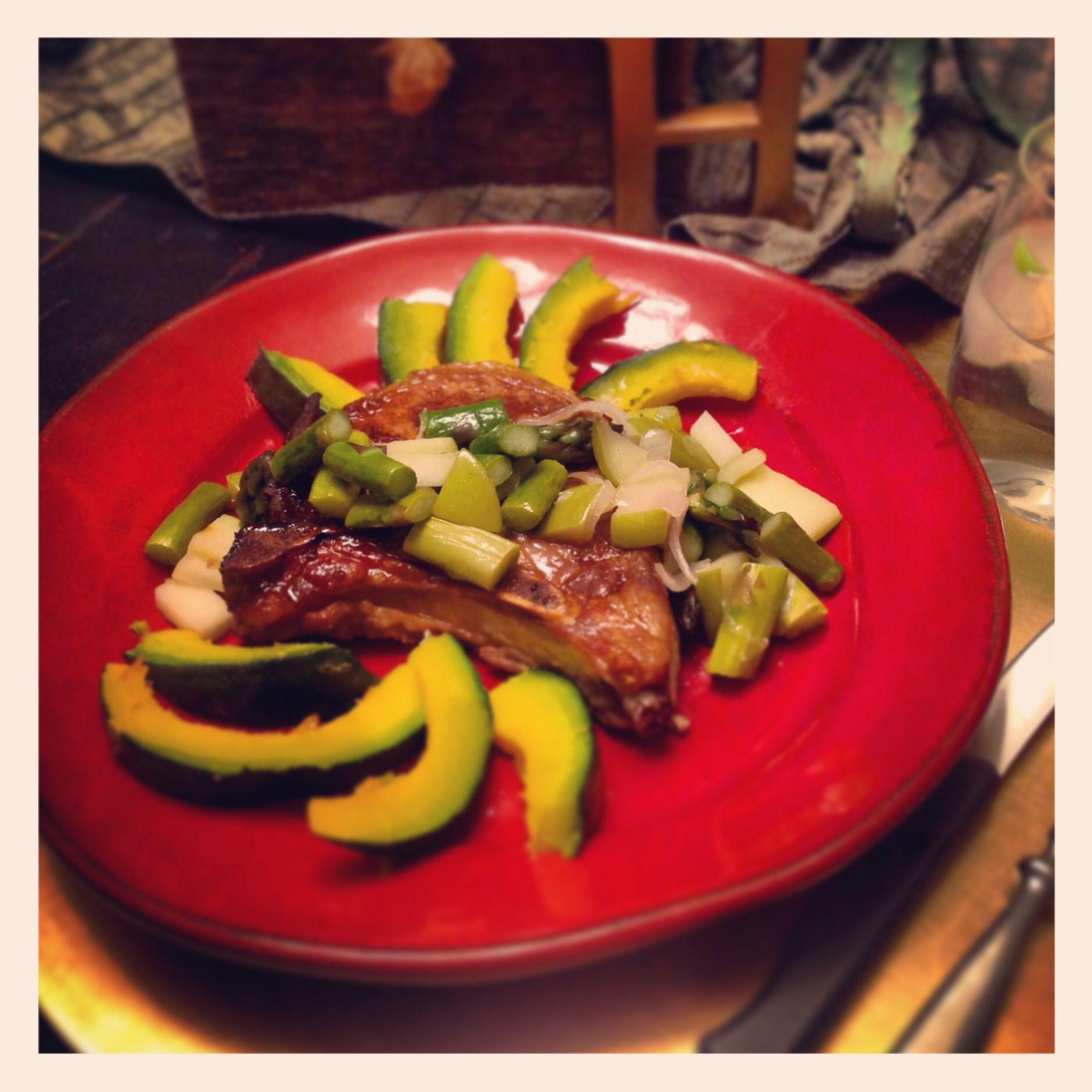 Cinnamon Crusted Pork Chop with Fig Balsamic Glaze Pork