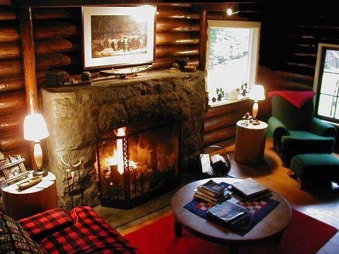 Cabin Decor - Bing Images   Warm & Cozy   Pinterest   Cabin, Log ...