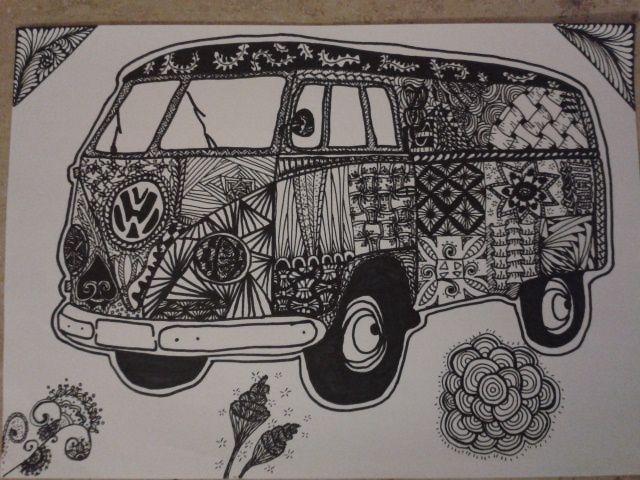 Zentangle VW Bus