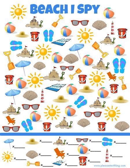 photo relating to I Spy Printable Worksheets titled Seaside I Spy Sport Oceans Shorelines I spy video games, Spy video games
