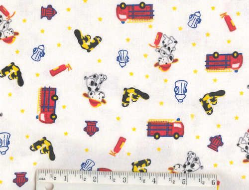 On Our Way Block Cars Fire Truck Yellow Cartoon Riley Blake Fabric Yard SALE