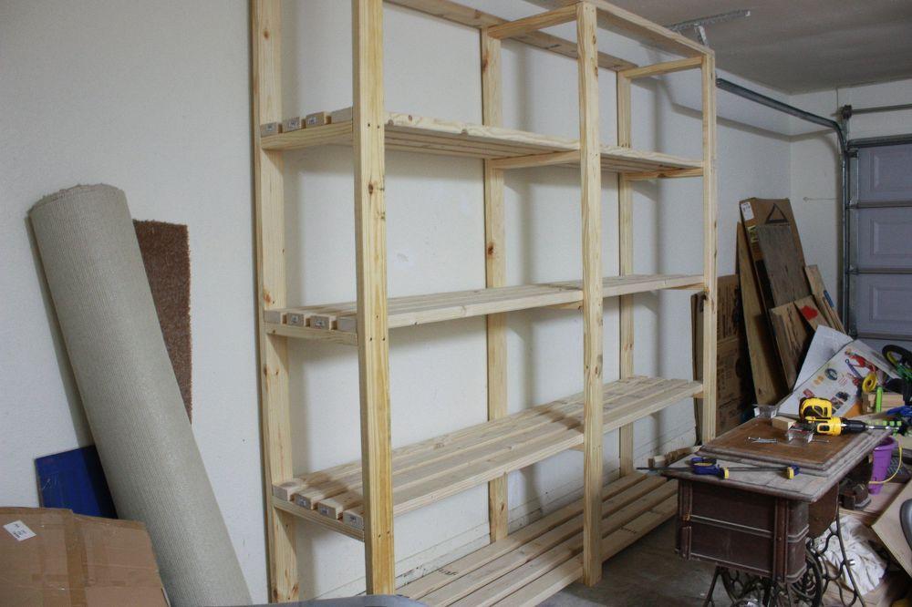 Easy diy garage shelving garage shelving diy garage and shelving easy diy garage shelving solutioingenieria Image collections