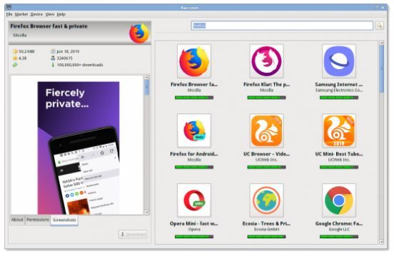 Raccoon is the APK Downloader for Windows Linux and macOS