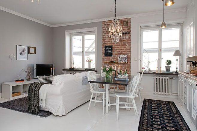 Ideas de lámparas en pisos pequeños Combina diferentes tipos de