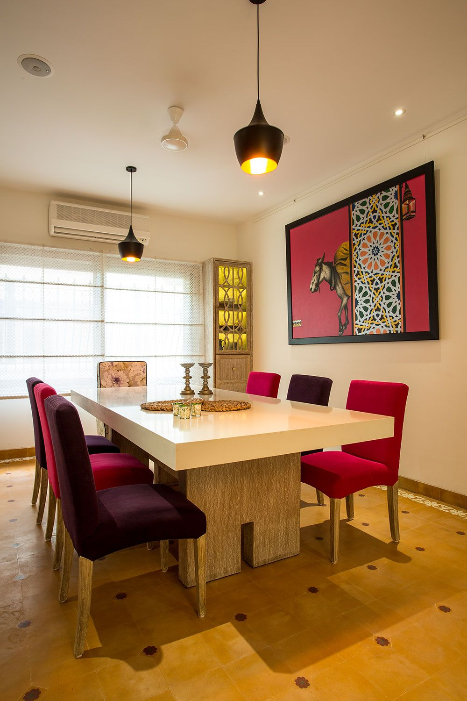 Indian Heritage Interiors Meets New Age Design The Orange Lane Studio Dining Room Design Indian Home Interior Dining Interior