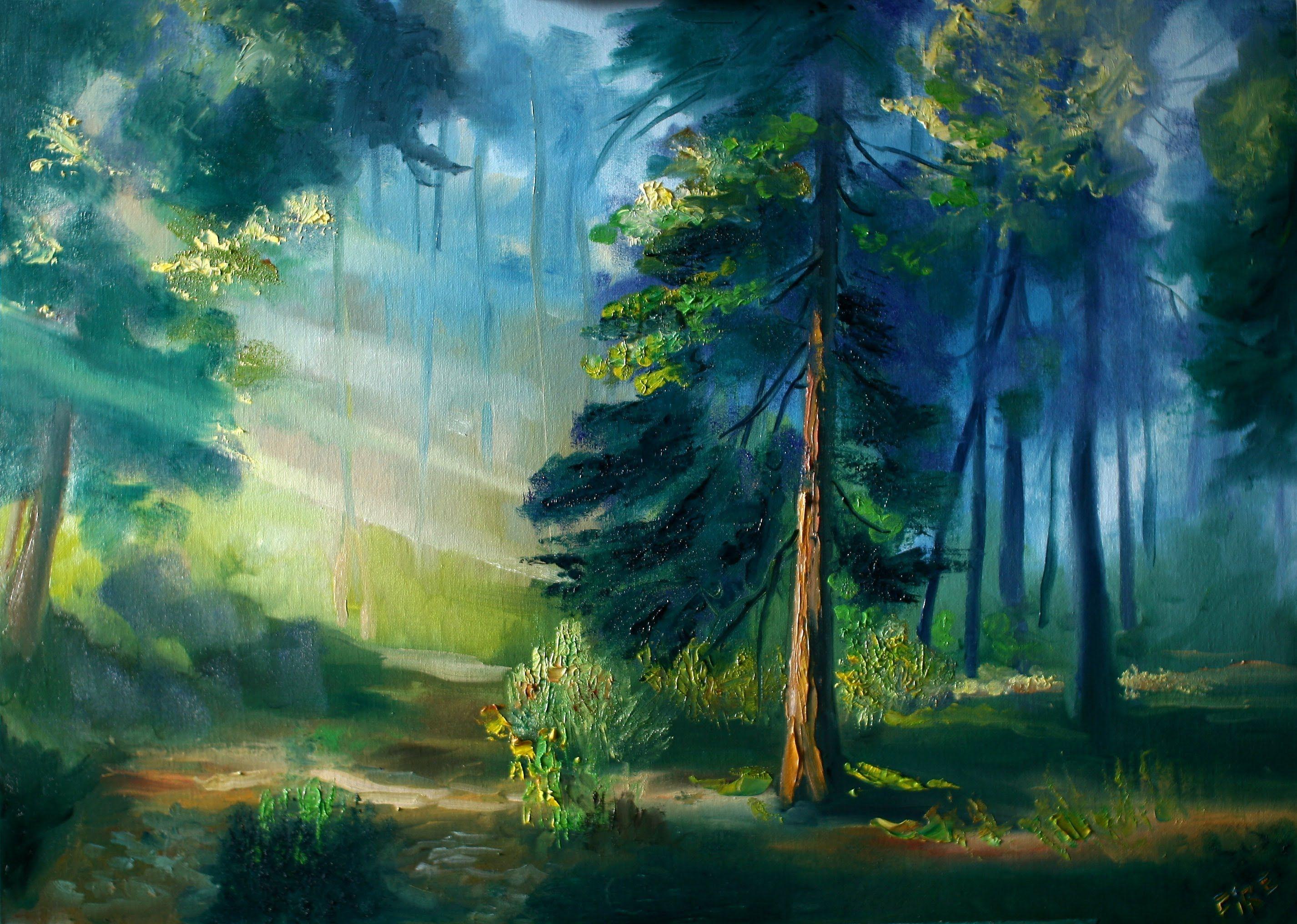 картинки лесной пейзаж рисунок шишечки, превращают