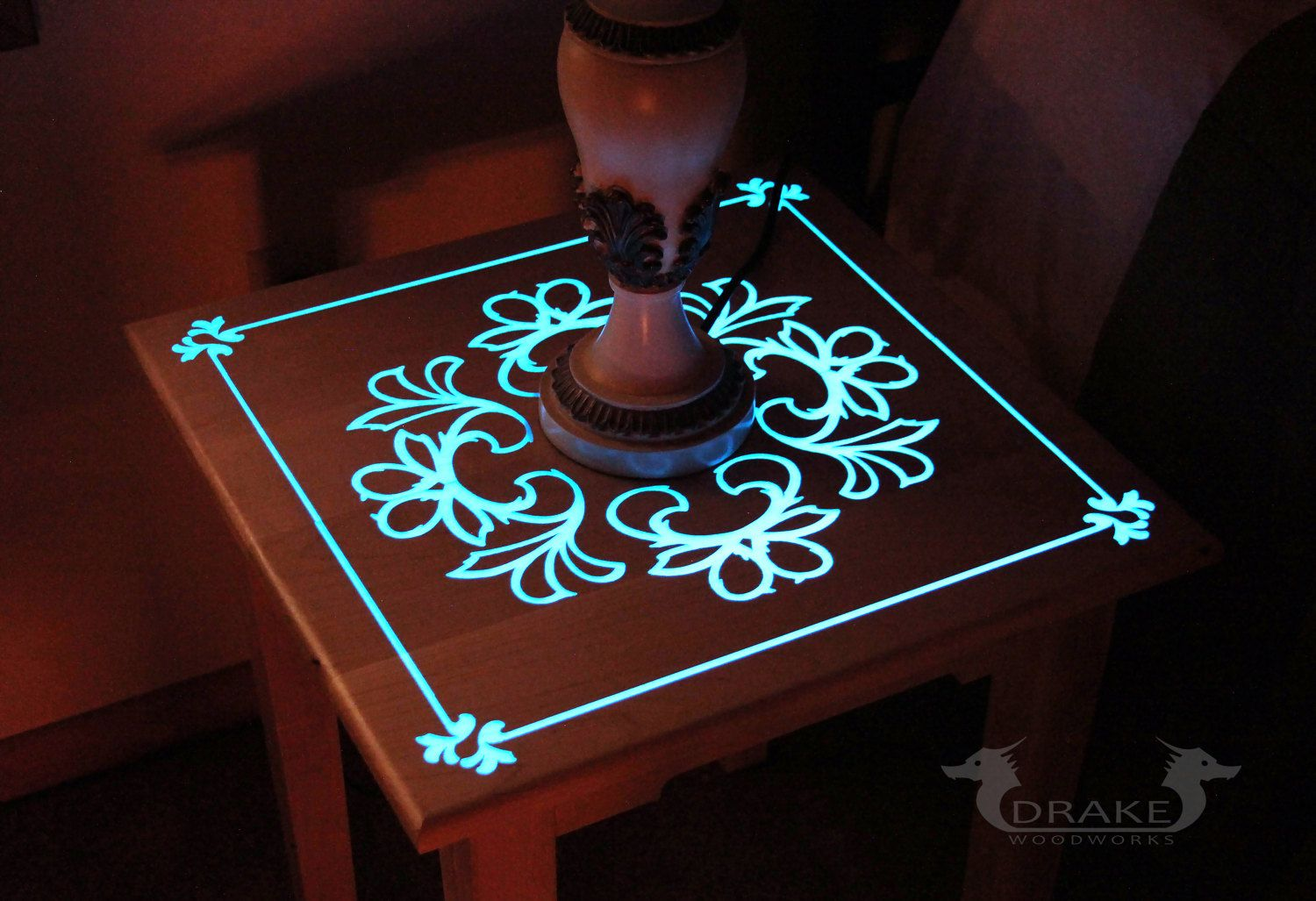 Custom Made Glow Table By Drake Wood Works Glow Table Resin Crafts Resin Table