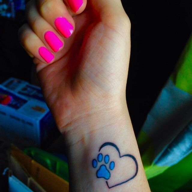 Tattoo Journal 65 Best Paw Print Tattoo Meanings And Designs