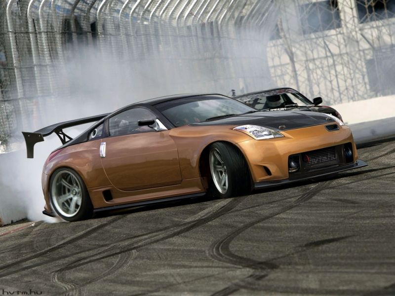 Nissan Drift Sports Car Prepared For The Drift By