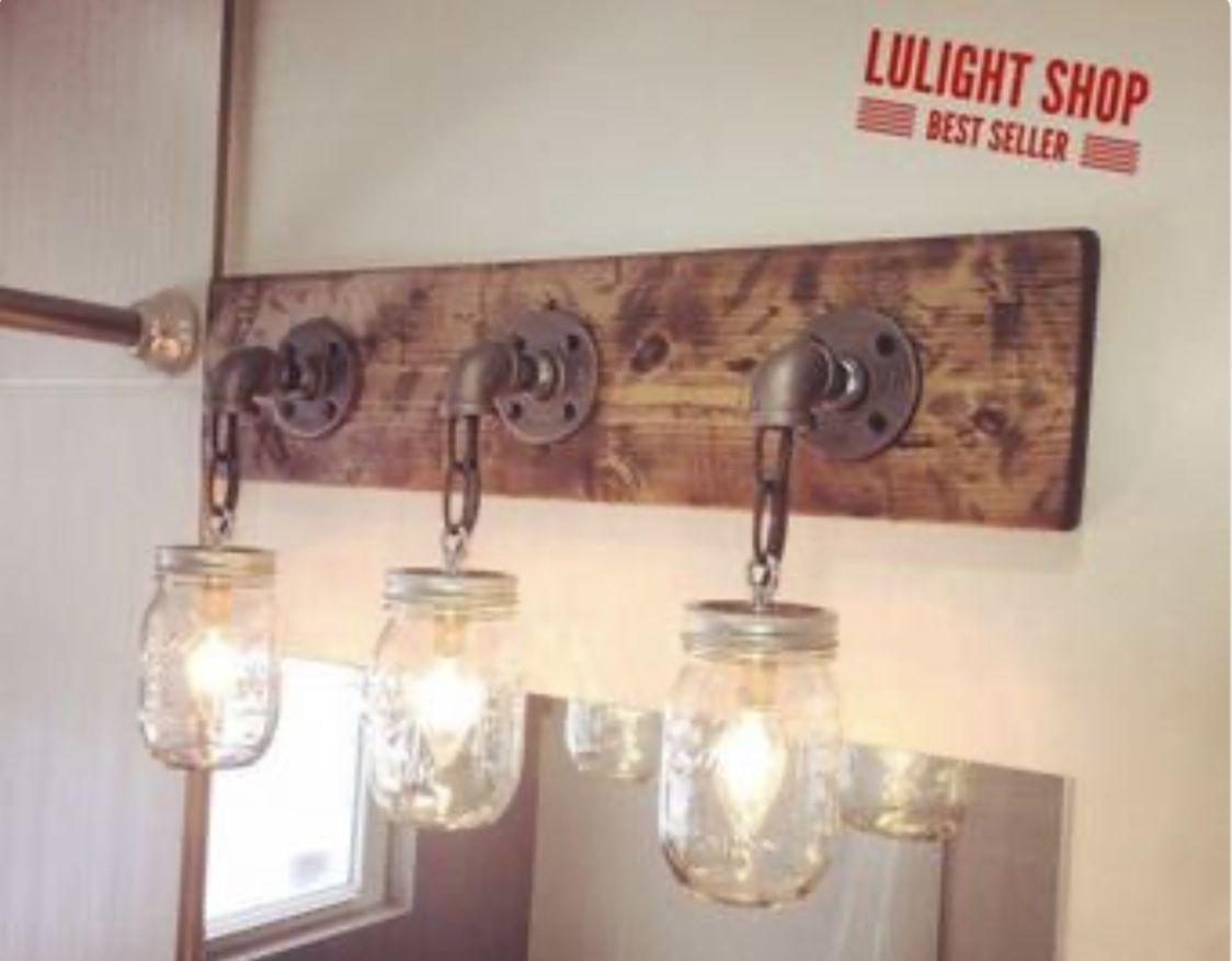 Photo of Farmhouse vanity light fixture