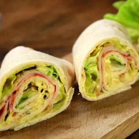 Photo of Wraps with turkey and cream cheese