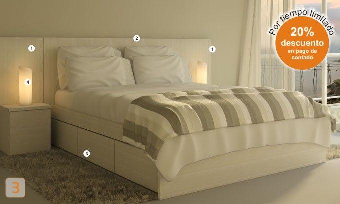 cabecera de cama con luces - Buscar con Google | Deco ideas ...