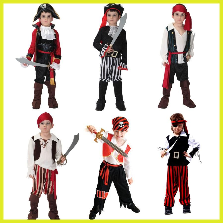 Halloween Costume for Boy Boys Kids Children Pirate Costumes ...