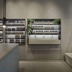 Tolila+Gilliland converts jewellery shop  into felt-lined Aesop store