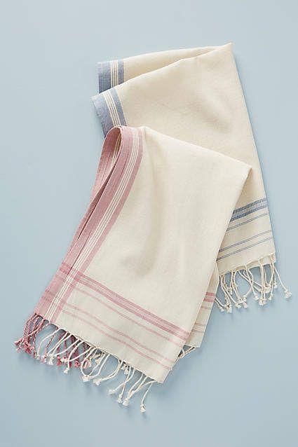 Tessa Striped Dish Towels, Set of 2 #dishtowels