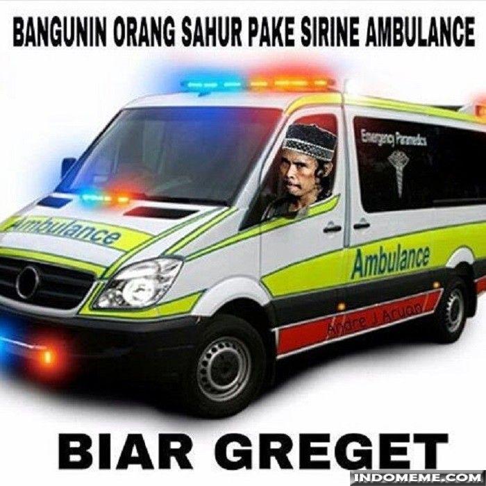 Bangunin Orang Sahur Pake Sirine Ambulance Gambar Lucu Meme Lucu Meme