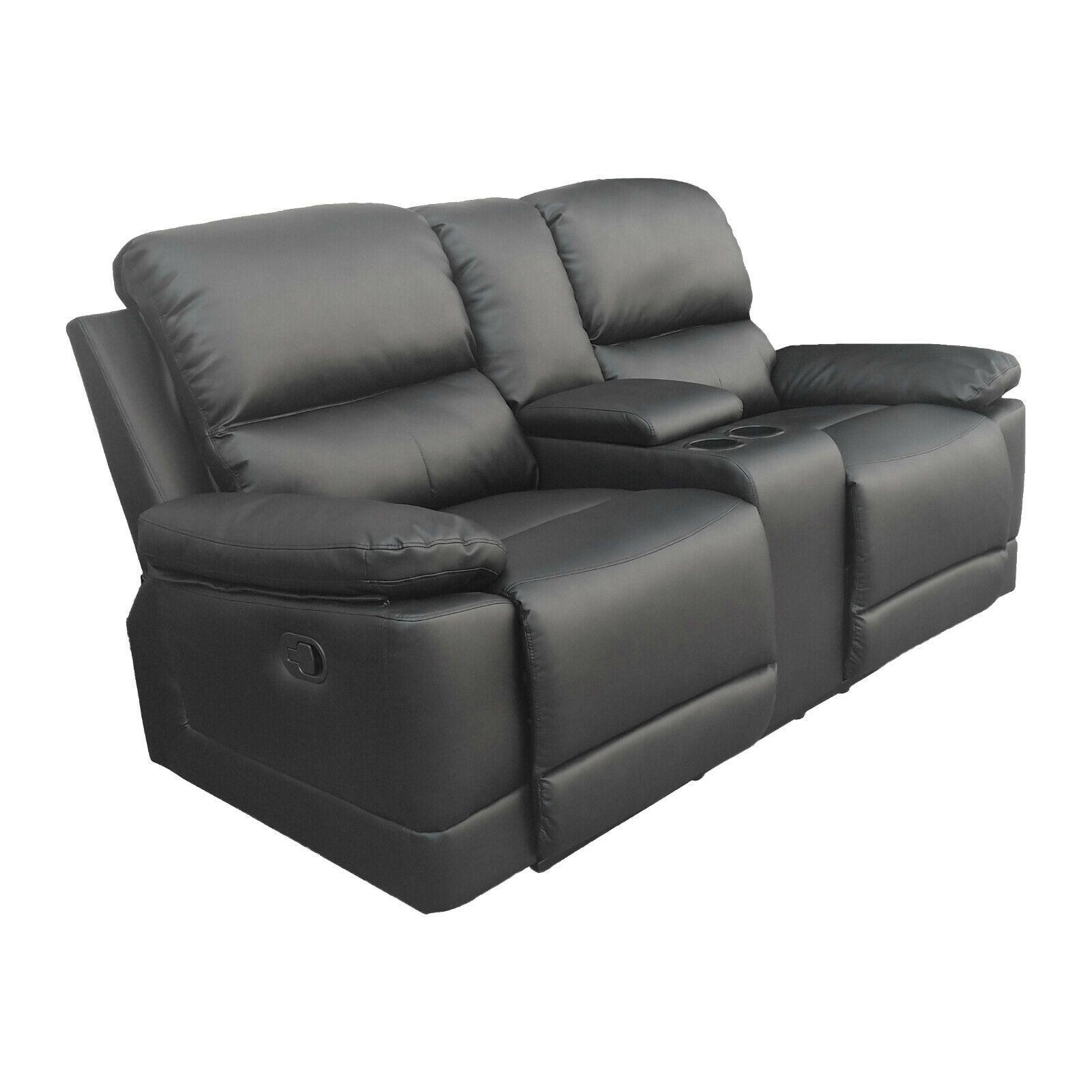 Raburg 2er Kinosessel Flix In Seiden Schwarz Tv Sessel Soft Touch Kunstleder Recliner Recliner Chair Chair
