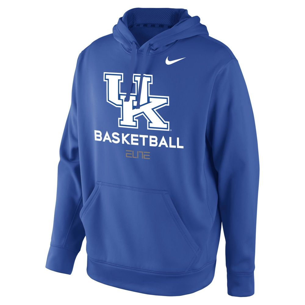 0e00a3ead9f3 Men s Nike Blue Kentucky Wildcats Basketball Therma-FIT Performance  Practice Hoodie