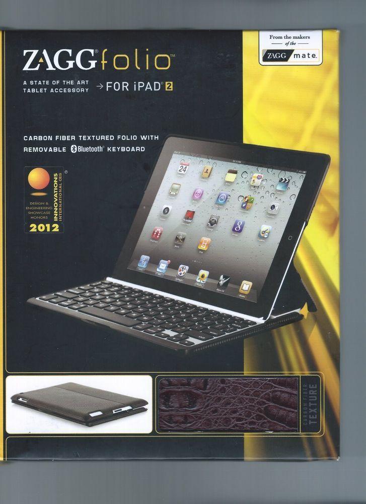 ZAGG Folio Ipad Air Bluetooth Keyboards For iPad 2  New! #Zagg