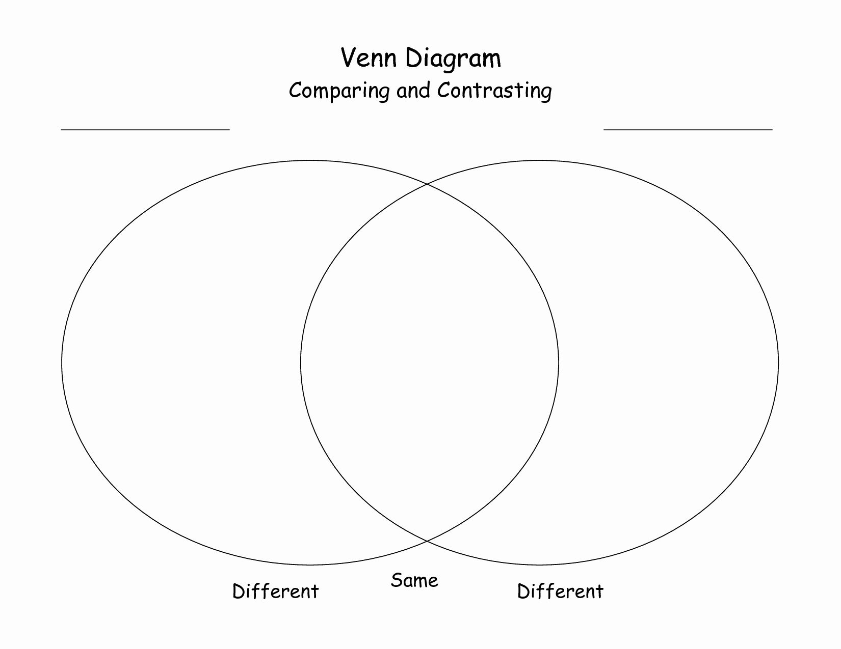 Venn Diagram To Print In With Images