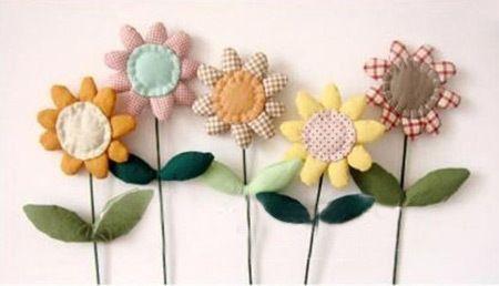 How To Make Fabric Sunflowers