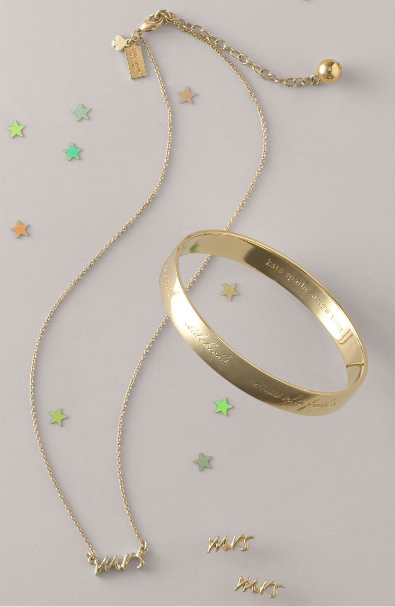 A shiny bangle is affectionately inscribed with perfect