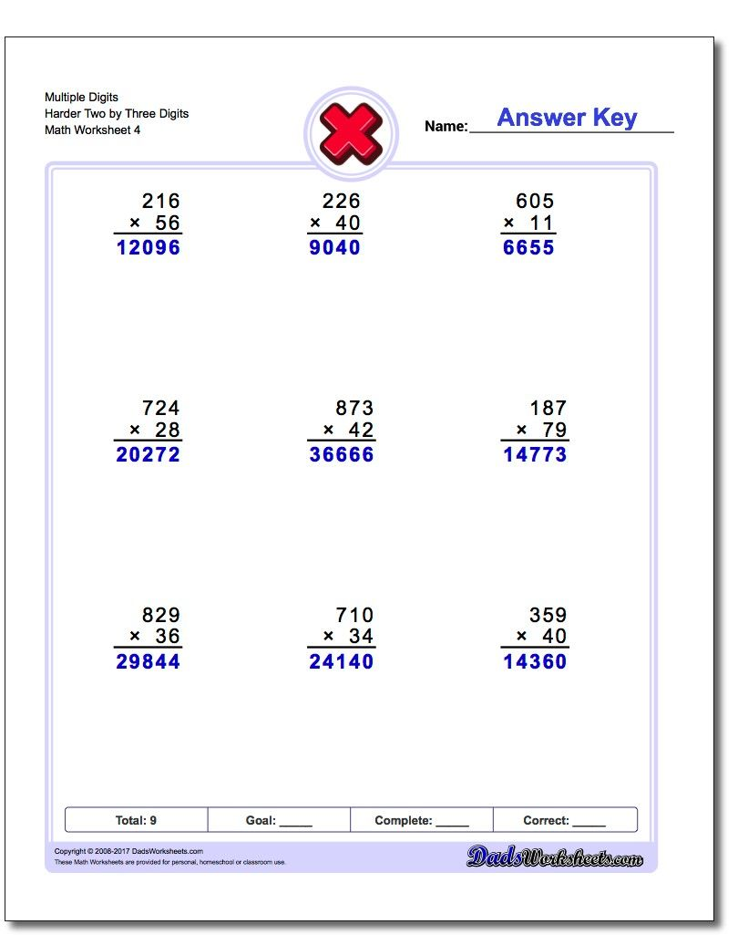 Multiple Digits Harder Two By Three Digits Worksheet Multiplication Worksheet Decimals Worksheets Multiplication Worksheets Money Worksheets [ 1025 x 810 Pixel ]