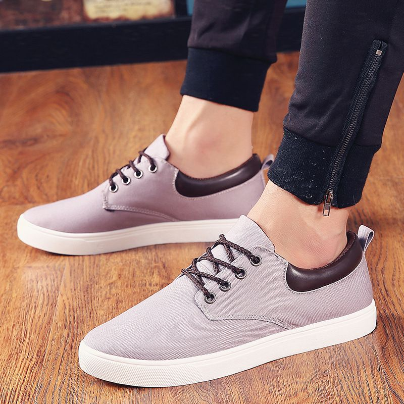 f0e70cec4b1d 2017 Summer New Man Shoes Mens Black Plimsolls Canvas Shoes Men Loafers Low  Upper Walking lace up Cheap China Shoes L120731
