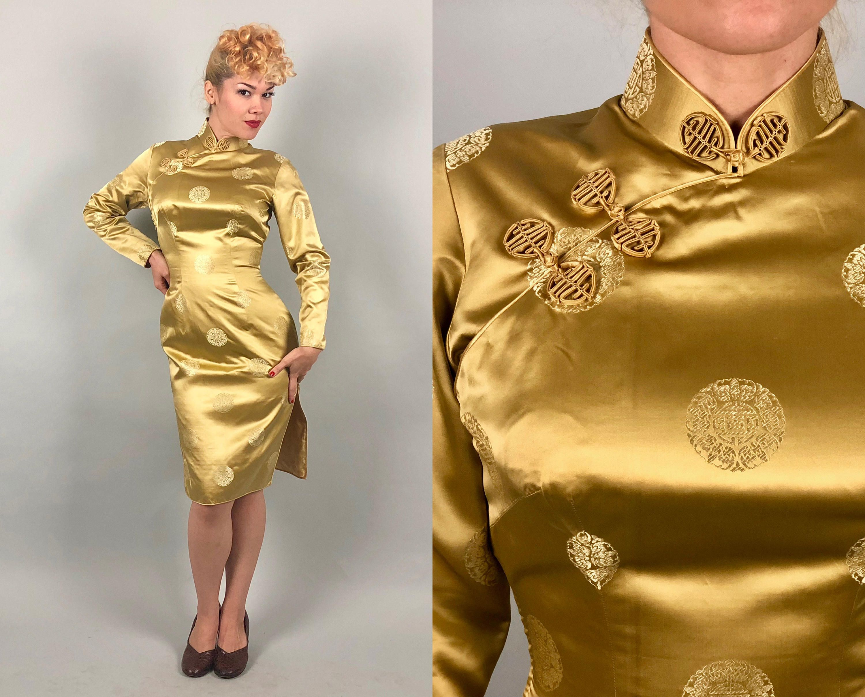 Vintage 1940s 1950s Kleid 40er Jahre 50er Jahre flüssige   Western ...