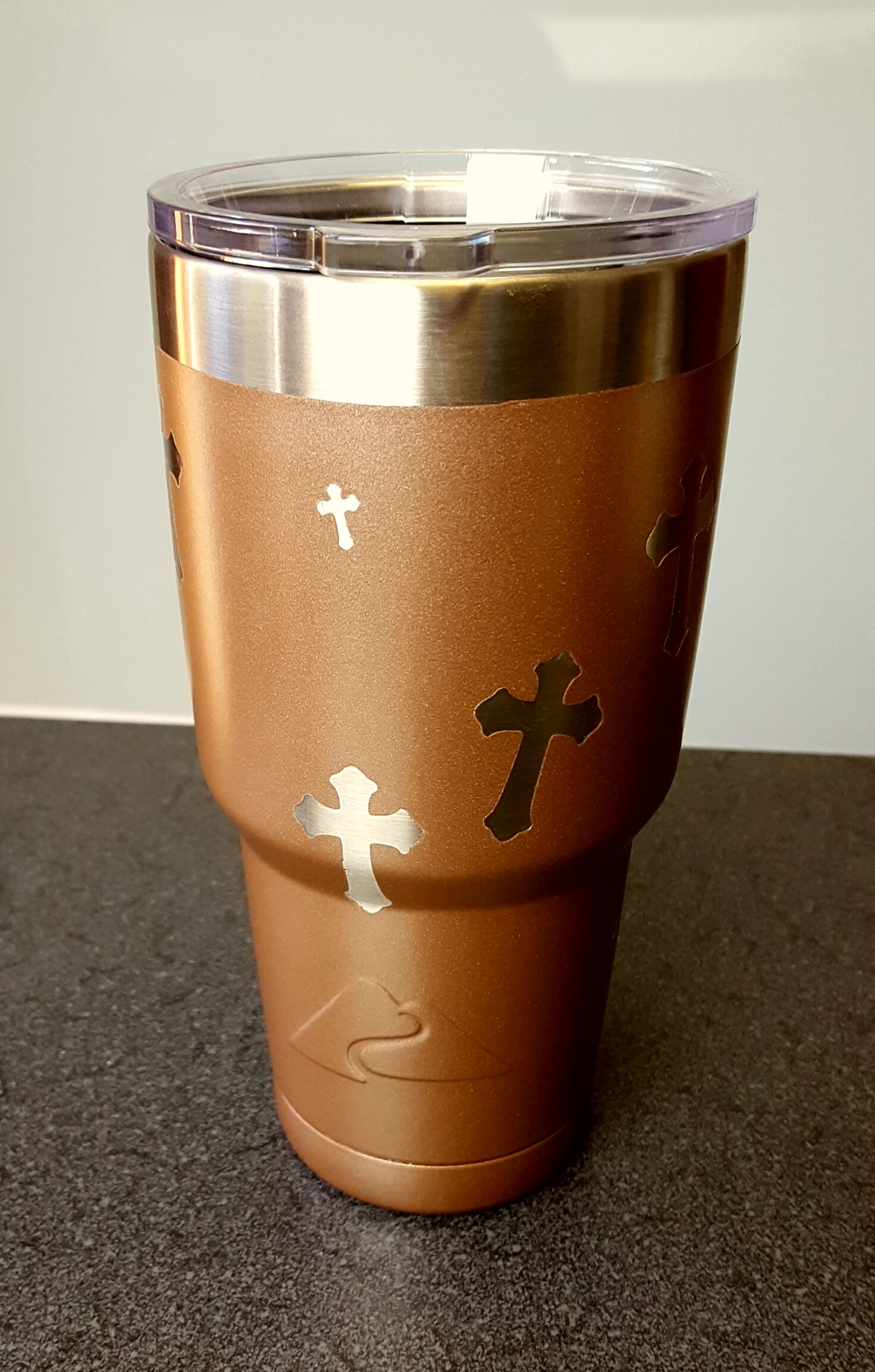 Christian Crosses On 30Oz Ozark Trail Double Walled Stainless Steel