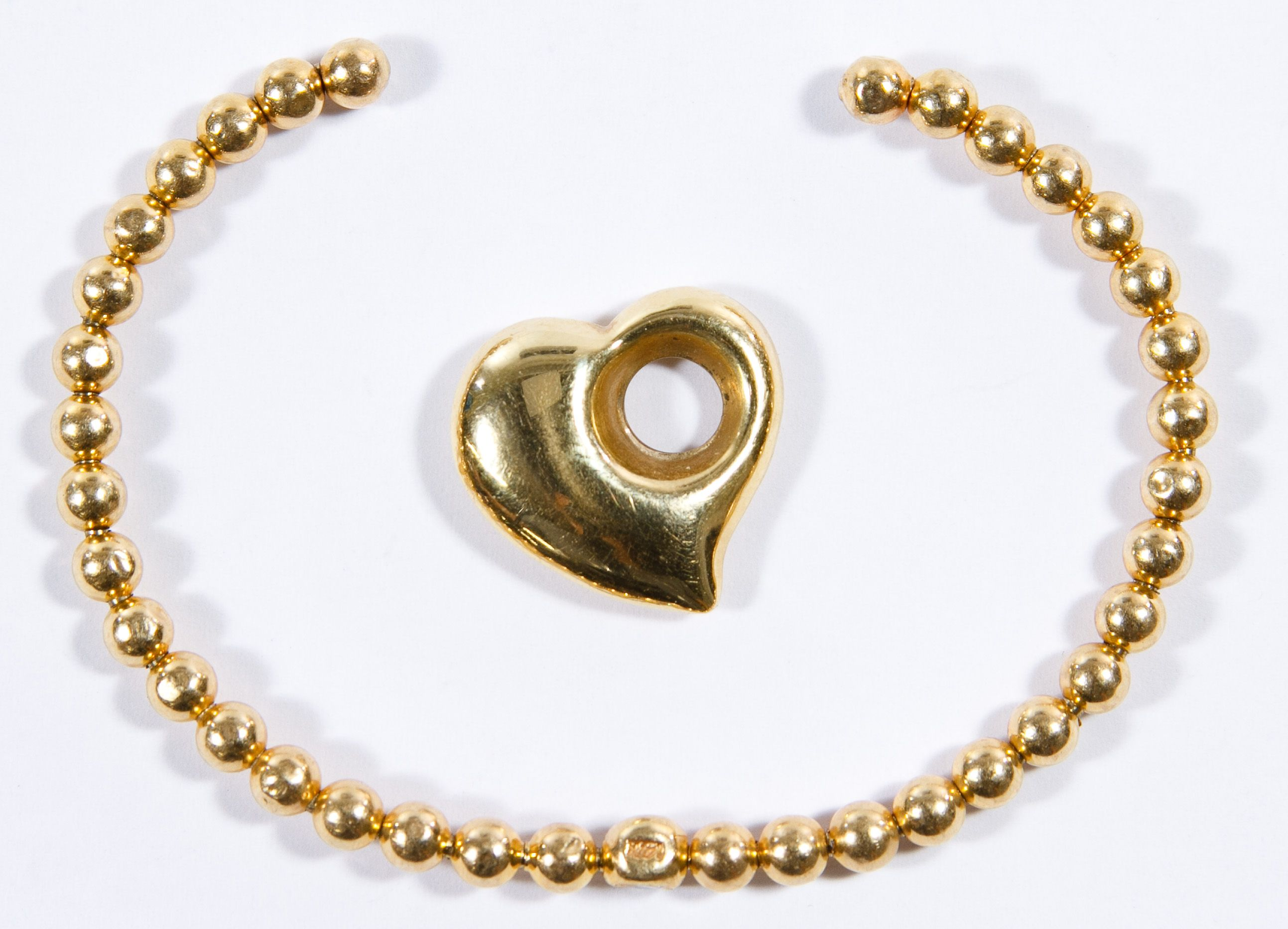 fine heart jewelry bracelet gold