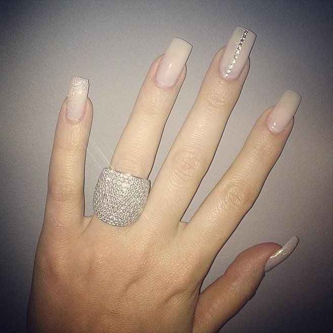 Khloé Kardashian\'s Nails | Nail decorations, Manicure and Kylie nails
