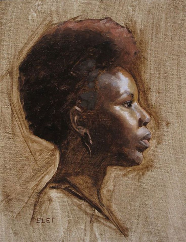 Emilie Lee {contemporary figurative art female head